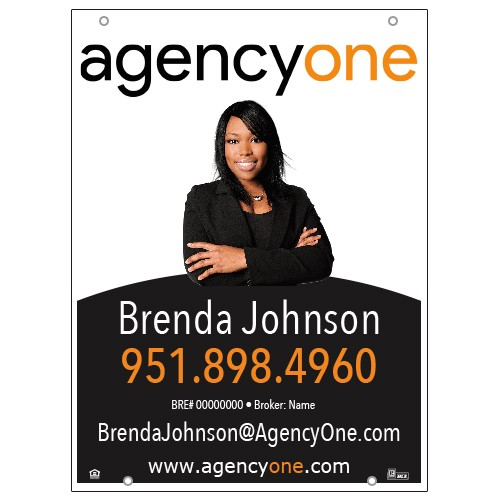 Agency One 24x32 For Sale Sign