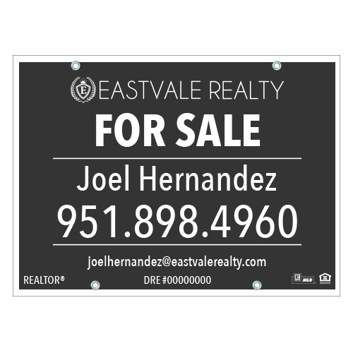 24x32 For Sale Sign Eastvale Realty